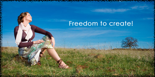 Freedom to create!